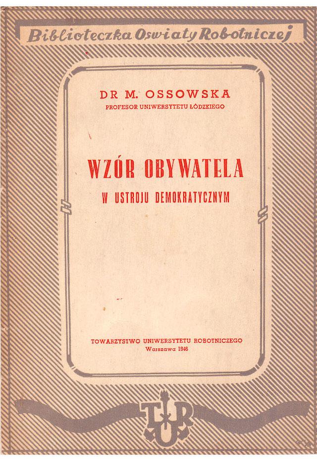Maria ossowska normy moralne